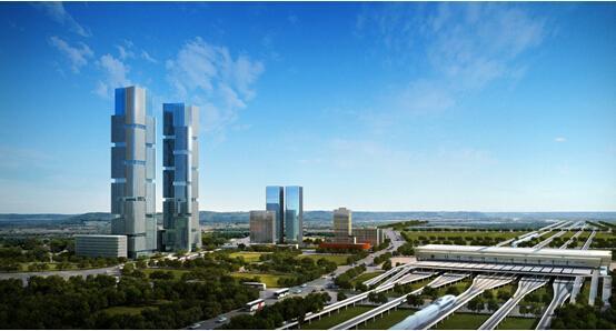 郑东绿地中央广场绿地双子塔